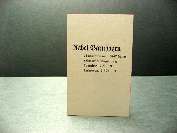 Berliner Visitenkarten Nr 1 Reden Ist Silber ï
