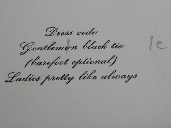 Hochzeitseinladung in englisch